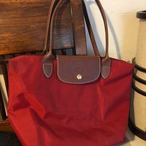 Longchamp red bag